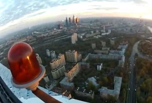 Красивый Прыжок Московской Высотки